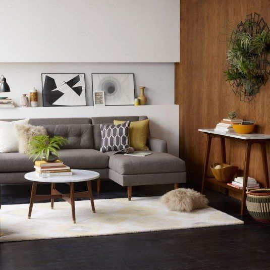 scandinavian living room-gray