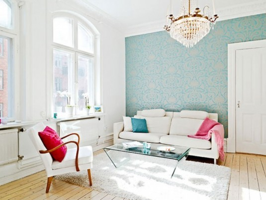 scandinavian living room ideas - white