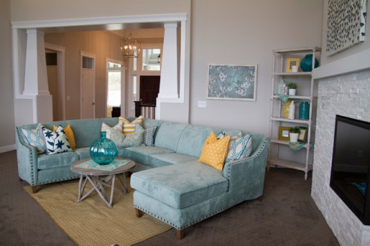 sectional sofa-mint