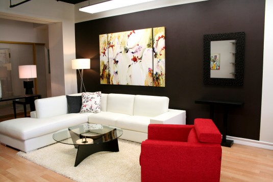 sectional sofa-white