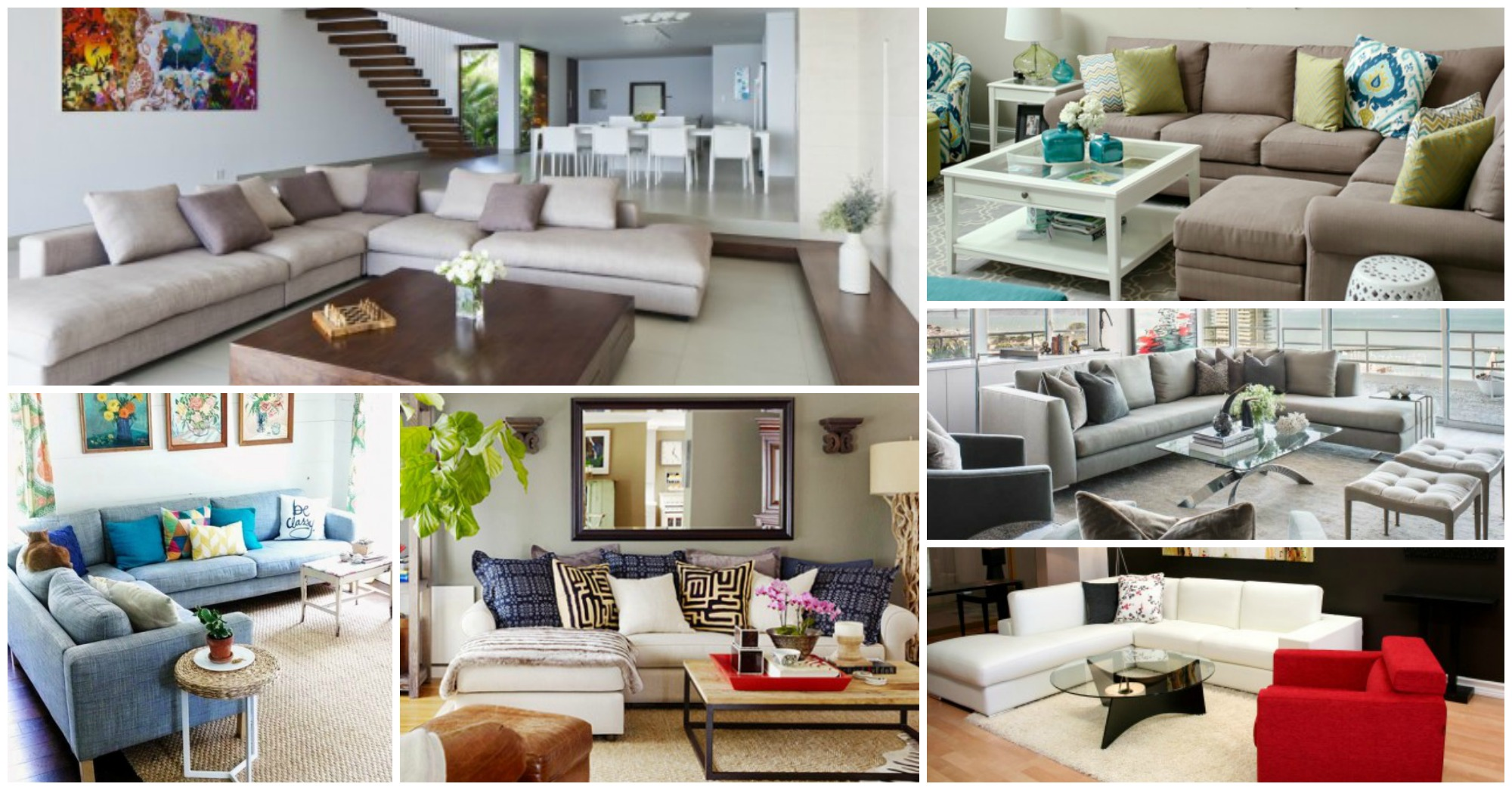 Luxury and Sophisticated Living Rooms With Sectional Sofas