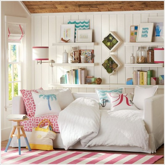 space saving bed-shelves