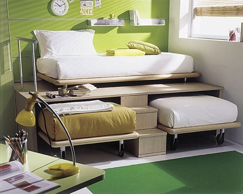 space saving bed-three in one