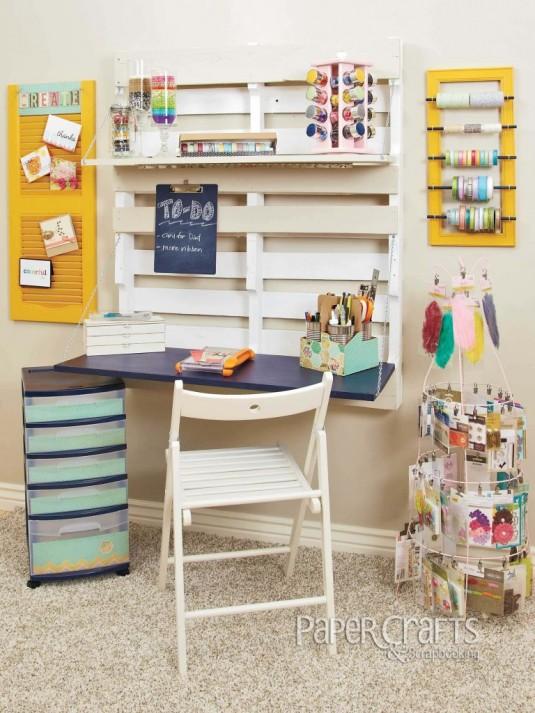 space saving desk-palette