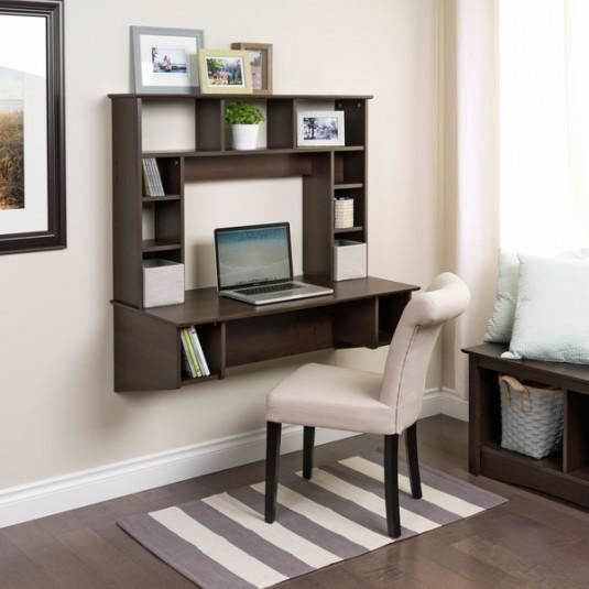space saving desk - traditional floating desk