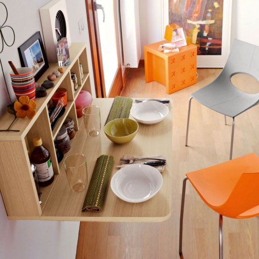 space saving dinning table