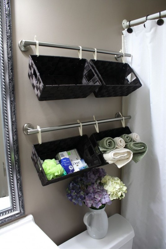 space saving furniture - bathroom baskets