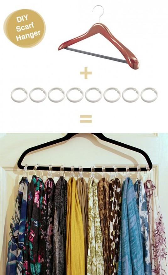 space saving hanger for scarves