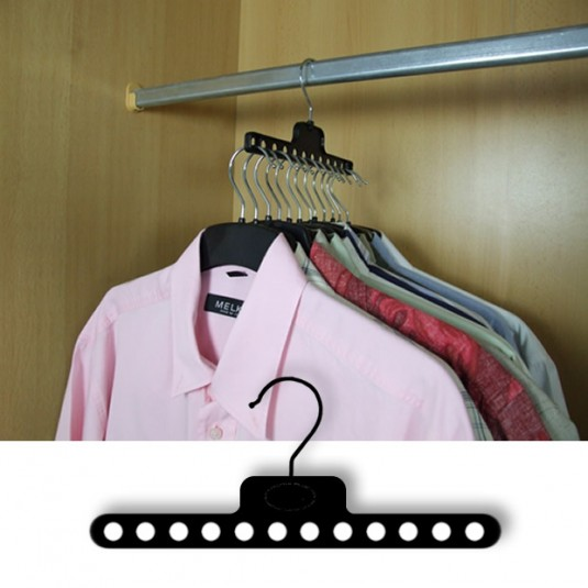 space saving hangers-horizontal