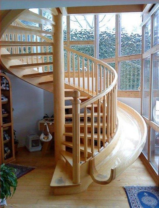 spiral staircase-slide