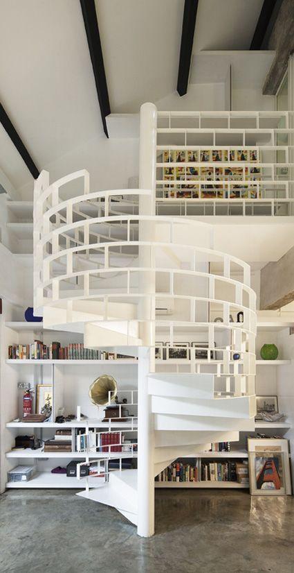 spiral staircase-white