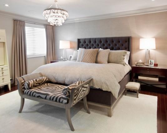 tufted bed-black