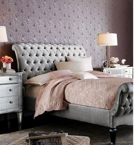 tufted bed-platinum