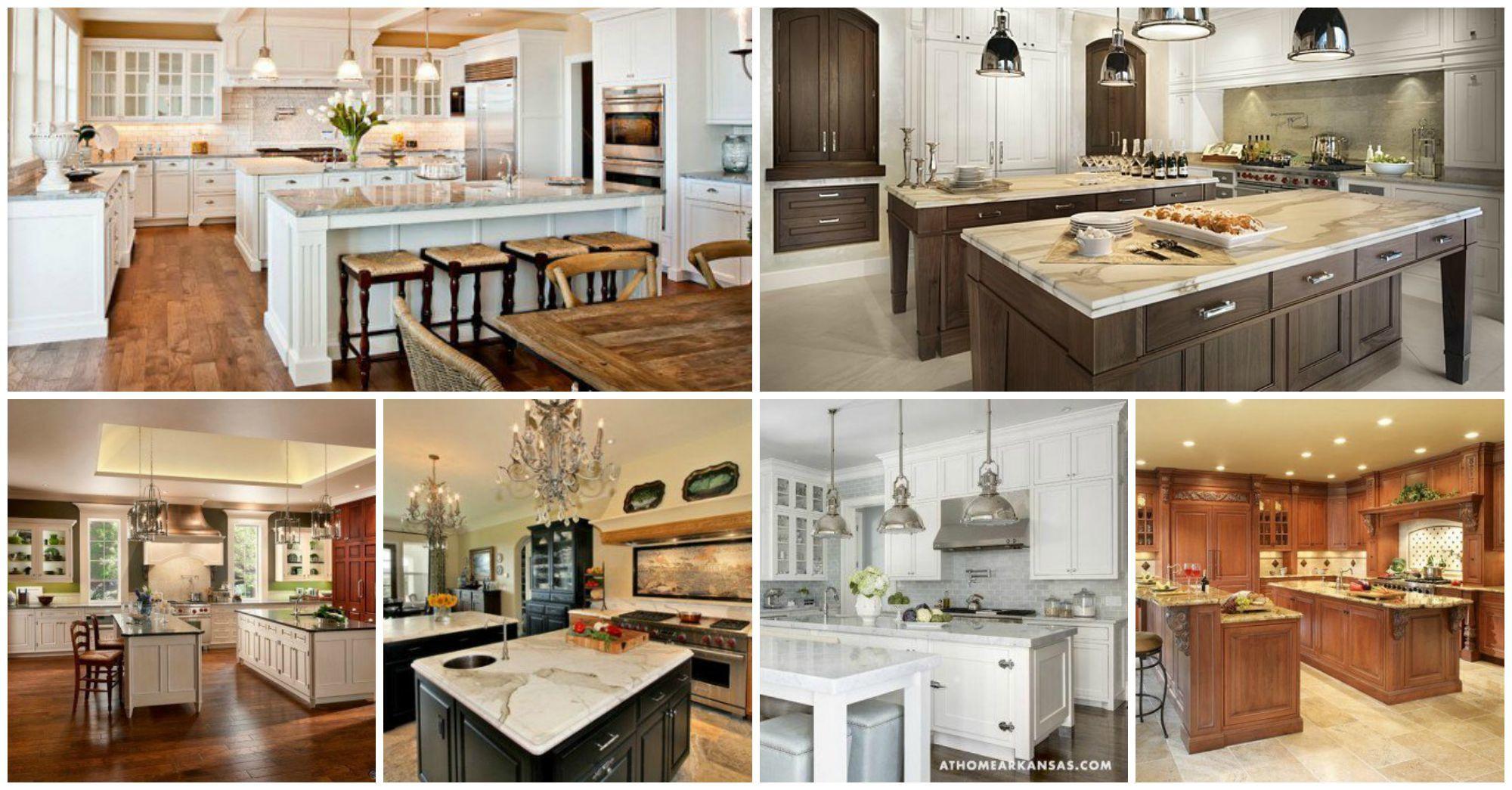 Luxury Double Kitchen Island Designs