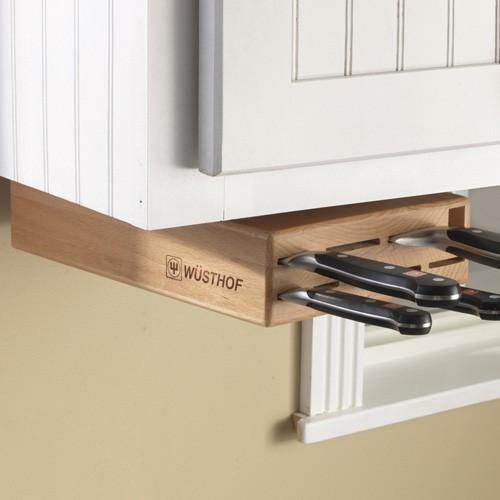 under cabinet knife storage solution