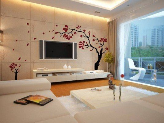 wall decal-flower tree