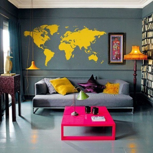 wall decal-world map
