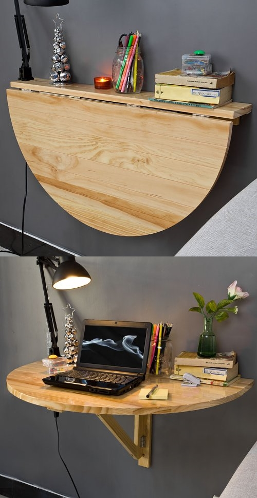 wall-mounted-semi-circular-table