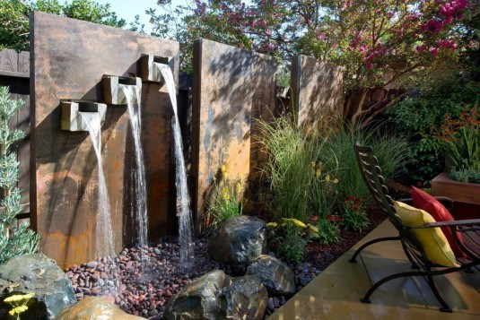 water feature-wall
