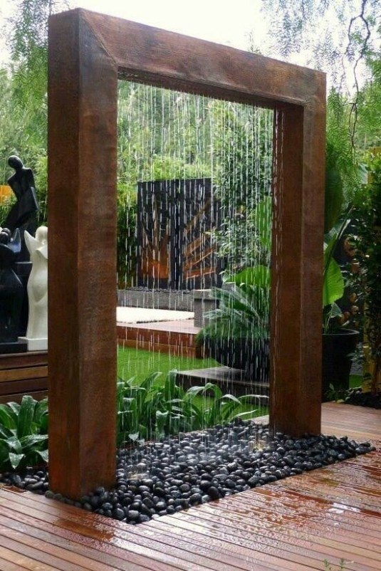 water feature-wooden