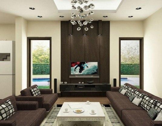 living room-dark