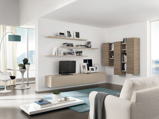 living room-white and brown