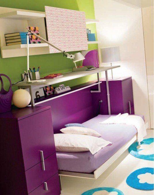 small bedroom-purple
