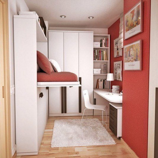 small bedroom-red