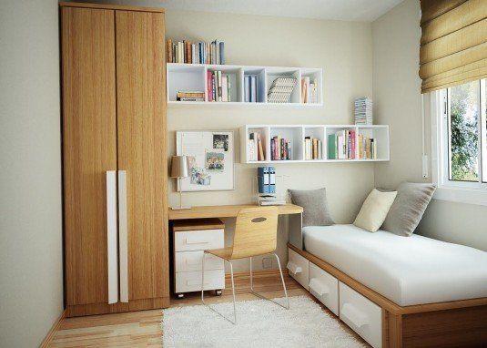 small bedroom-wood