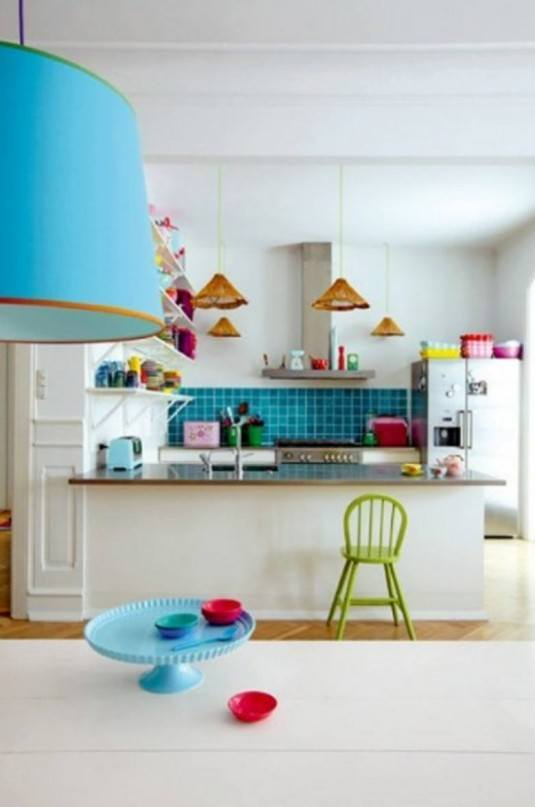 Awesome-Kitchen-Paint-Ideas-With-blue-kitchen-backsplash-and-green-kitchen-stool-design-780x1176
