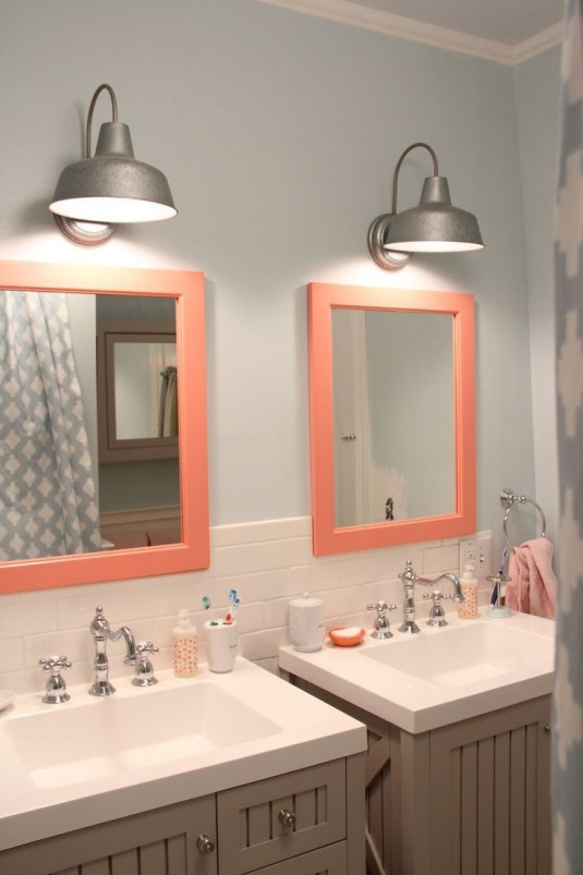 bathroom lights-silver
