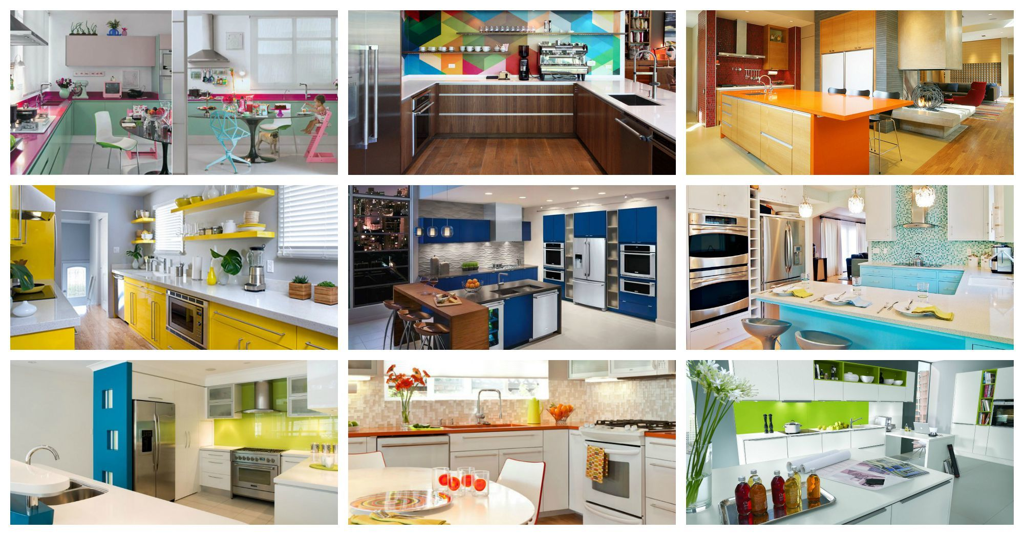 Colorful Kitchen Designs And Cooking Will Be More Exciting
