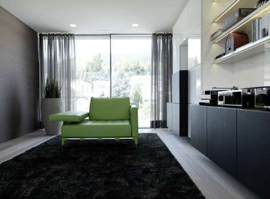 dark-carpet-design-and-green-sofas-also-sliding-transparant-curtain-onstage-house-07