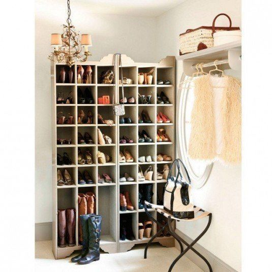 inspiration-furniture-cool-old-chandelier-over-high-shoe-storage-cabinets-with-folding-iron-table-in-white-room-decors-dazzling-shoe-storage-solution-creative-design-ideas-640x640
