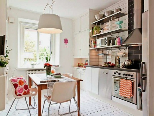 kitchen-white and silver