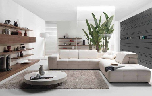 living room-white