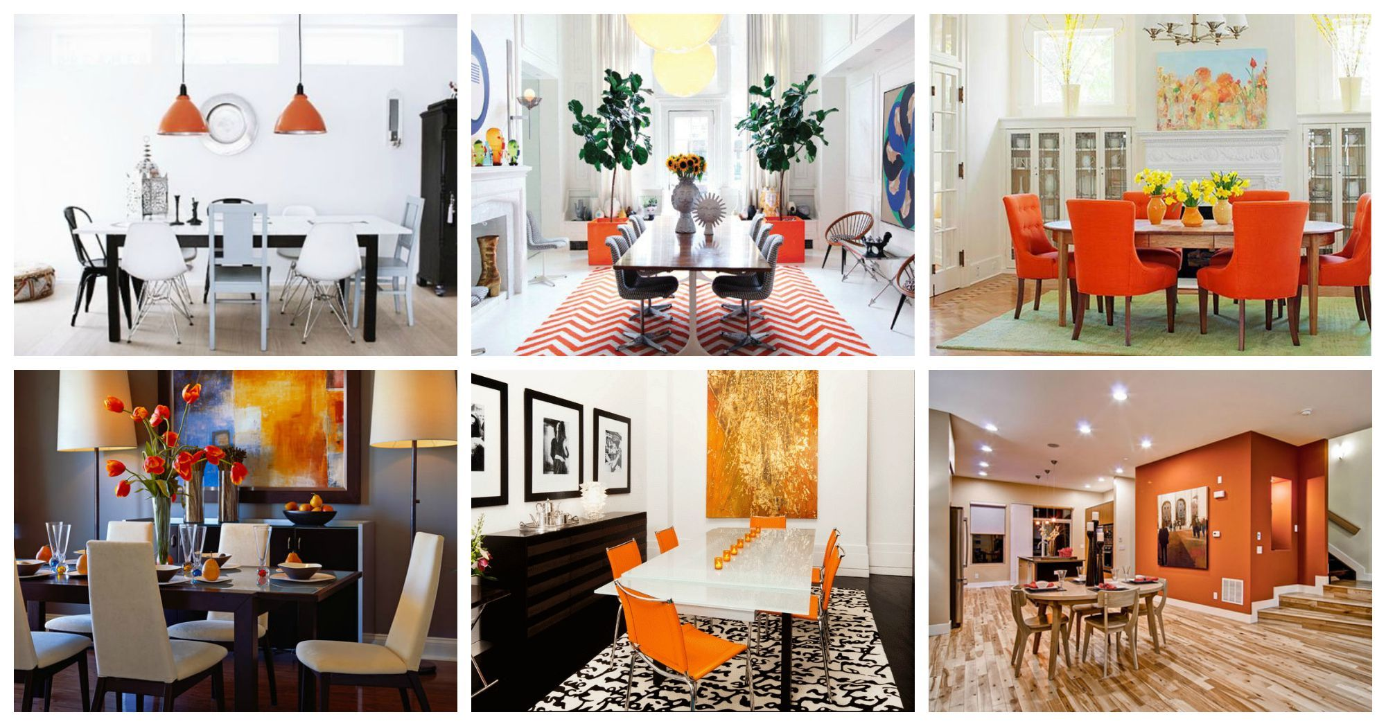 Marvelous Dining Rooms With Orange Accents That Will Catch Your Eye
