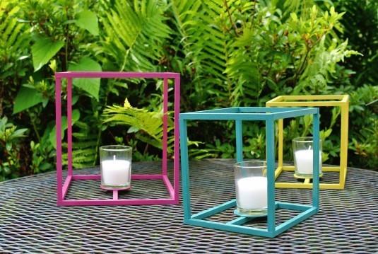outdoor cube lanterns