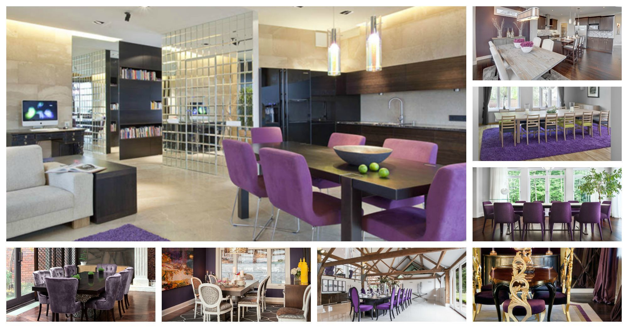Glorious Purple Dining Rooms That Will Leave Your Speechless