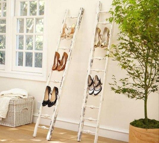 shoe-rack-ladder-idea-old-white-wooden-ladder-storage-ladder-furniture-interior-creative-storage-ladder-ideas
