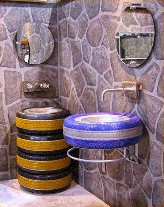 tire bathroom sink