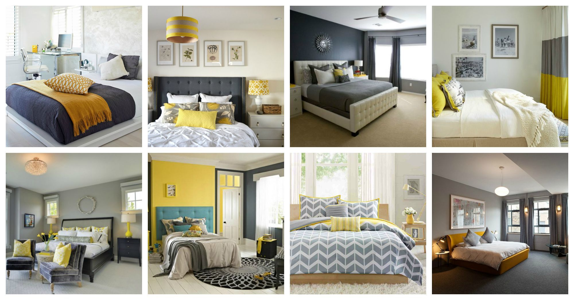 Yellow And Grey Bedroom Designs That You Will Totally Love