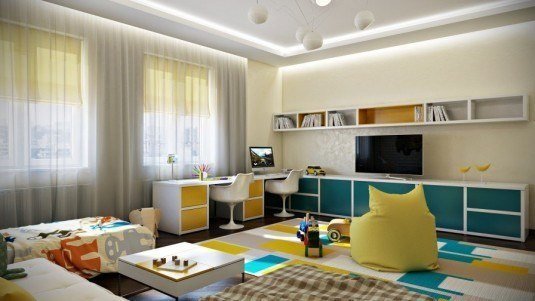 17-Blue-yellow-shared-kids-room