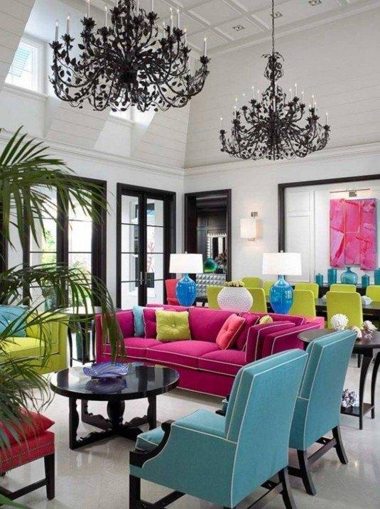22-Những bộ sofa sặc sỡ, nổi bật không gian phòng khách