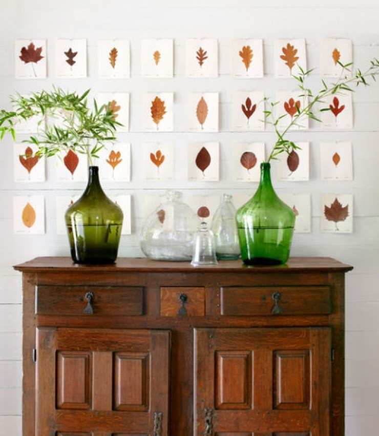 astonishing home interiors with the fabulous fall leaves dec