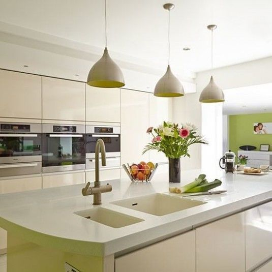 White-and-Lime-Kitchen-Beautiful-Kitchens-Housetohome