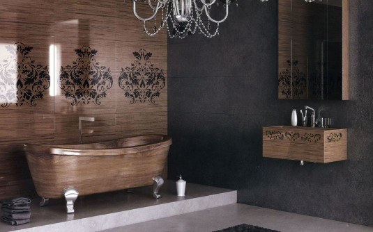 Wooden-Bathroom