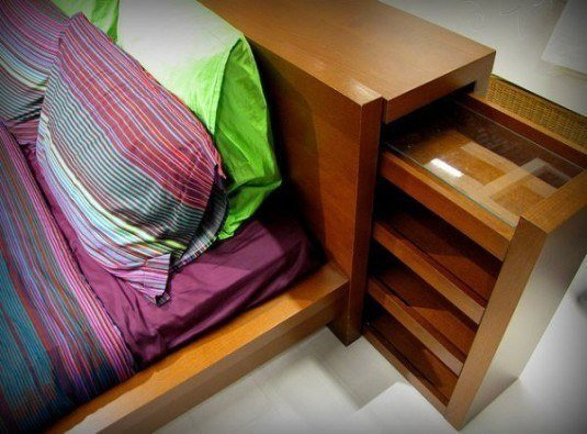 bed headboard drawer