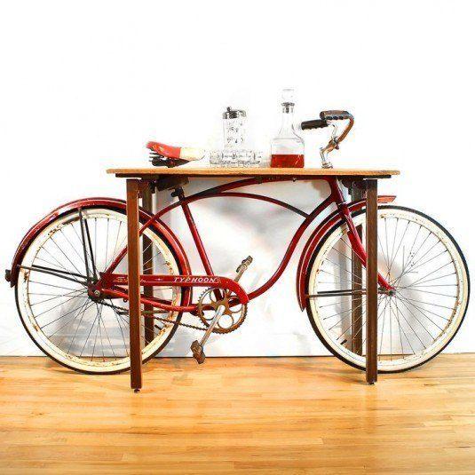 Brilliant DIY Ways of Reusing Old Bikes : bike table 535x535 from karmastream.com size 535 x 535 jpeg 50kB