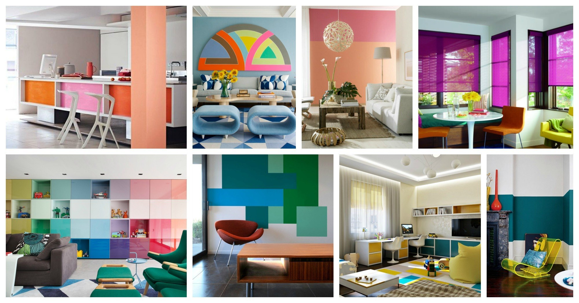 Interesting Color Block Interiors That Will Grab All Of Your Attention